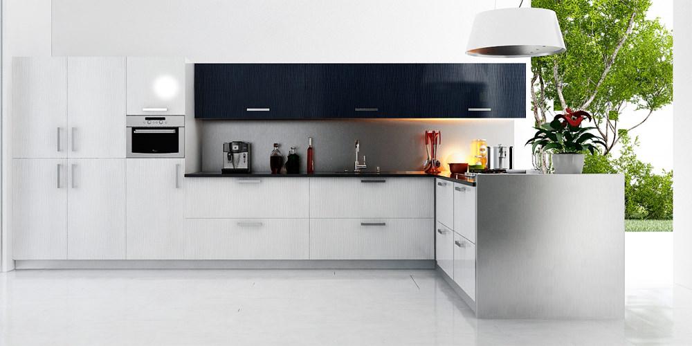 «Алвик» (2) модерн, угловая, белый и серый