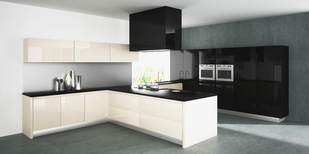 «Алвик» (11) модерн, островная, белый и черный