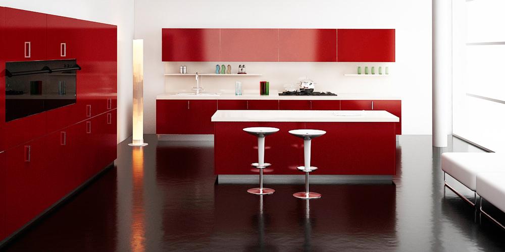 «Алвик» (7) модерн, островная, красный