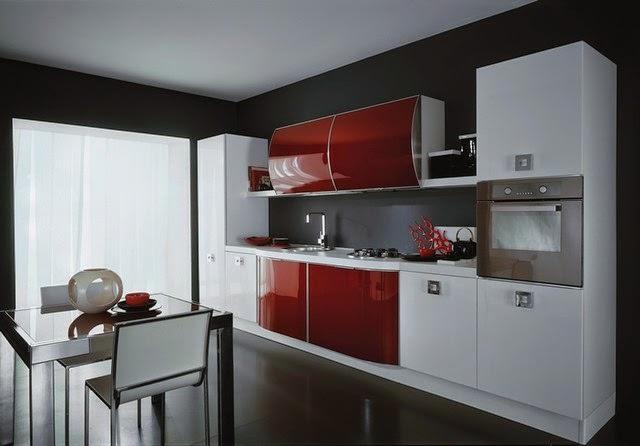 «Камилла» (12) модерн, прямая, белый и красный