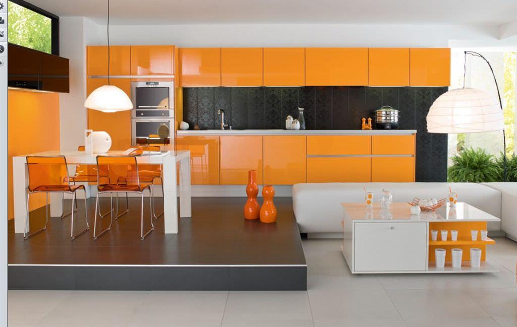 «Руфина» (17) лофт, прямая, студия, оранжевый