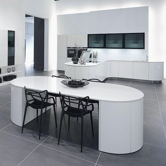 «Бела» (13) модерн, островная, угловая, белый