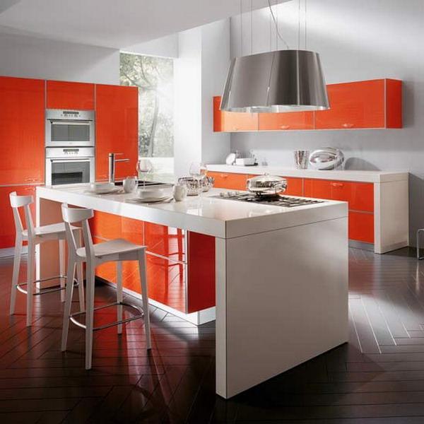 «Руфина» (6) лофт, прямая, две линии, островная, оранжевый