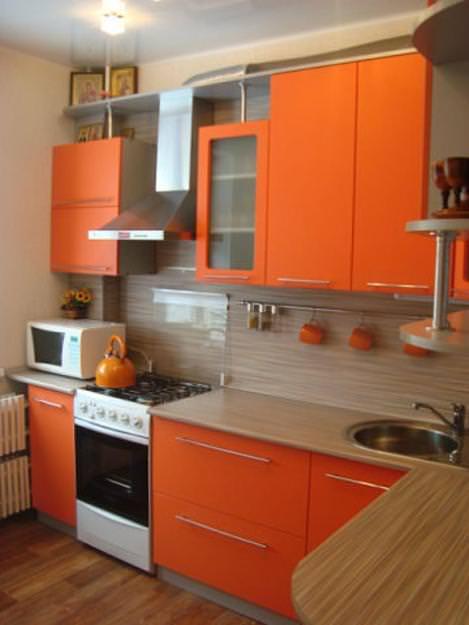 «Руфина» (4) минимализм, угловая, оранжевый