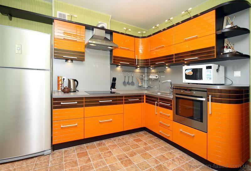 «Полина» (4) модерн, угловая, оранжевый
