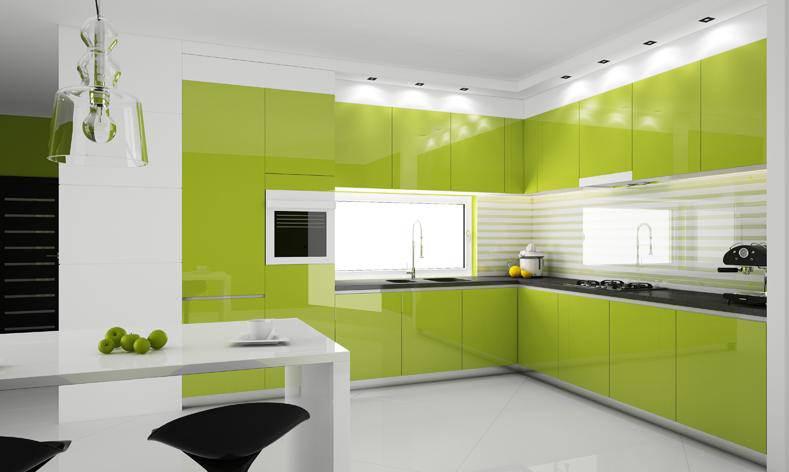 «Мария» (8) модерн, угловая, студия, зеленый