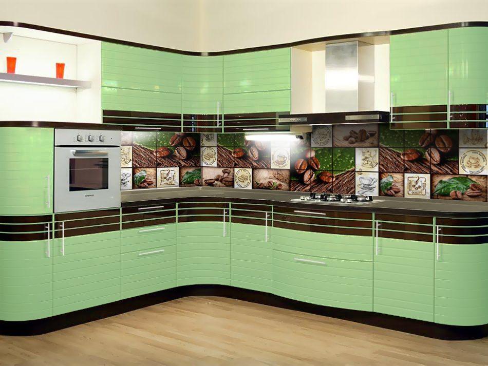 «Полина» (5) модерн, угловая, зеленый