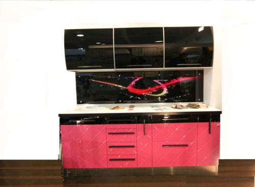 «Камилла» (1) модерн, прямая, черный, розовый