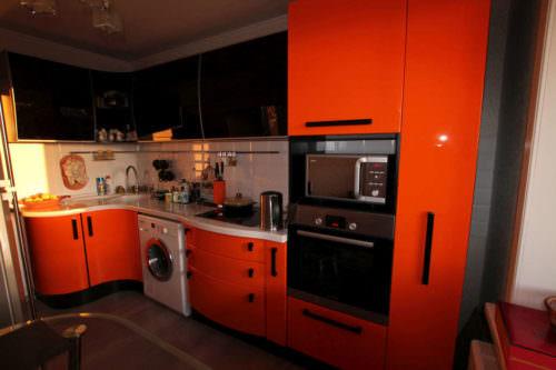 «Камилла» (2) модерн, угловая, черный, оранжевый