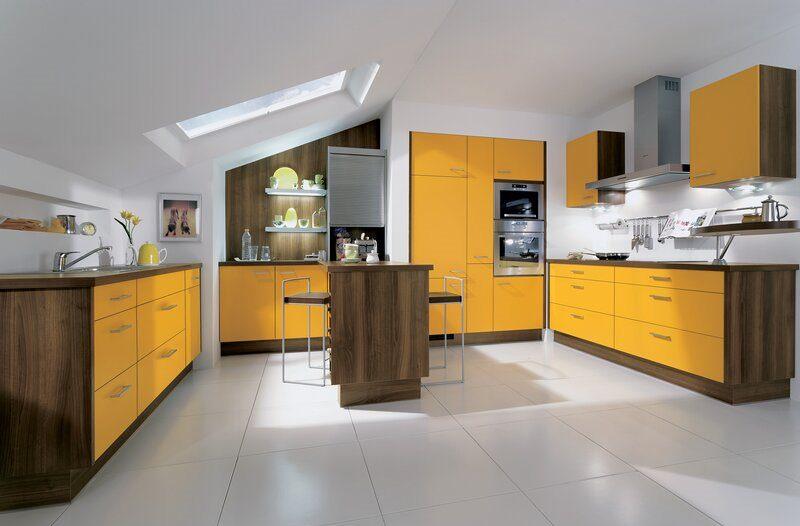 «Руфина» (3) лофт, п-образная, студия, желтый
