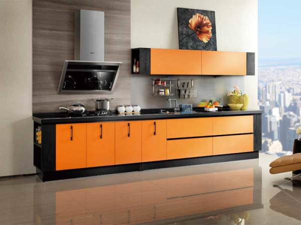 «Милана» (11) модерн, прямая, студия, коричневый, оранжевый
