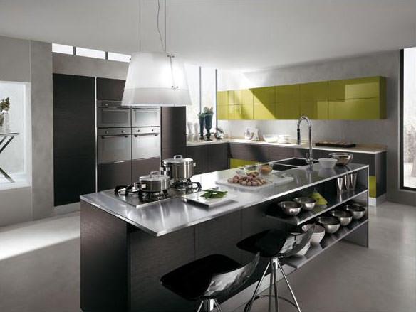«Милана» (16) лофт, угловая, островная, студия, коричневый, зеленый