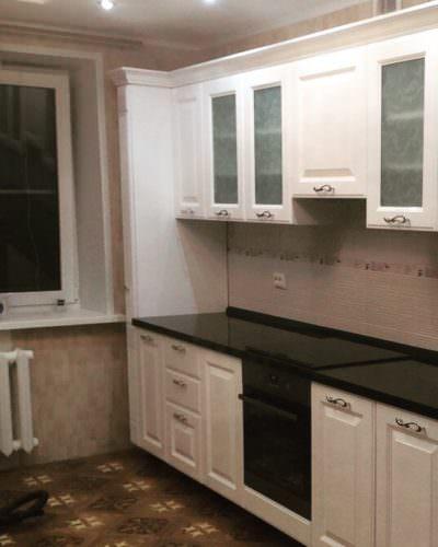 Кухня МДФ эмаль белый глянец