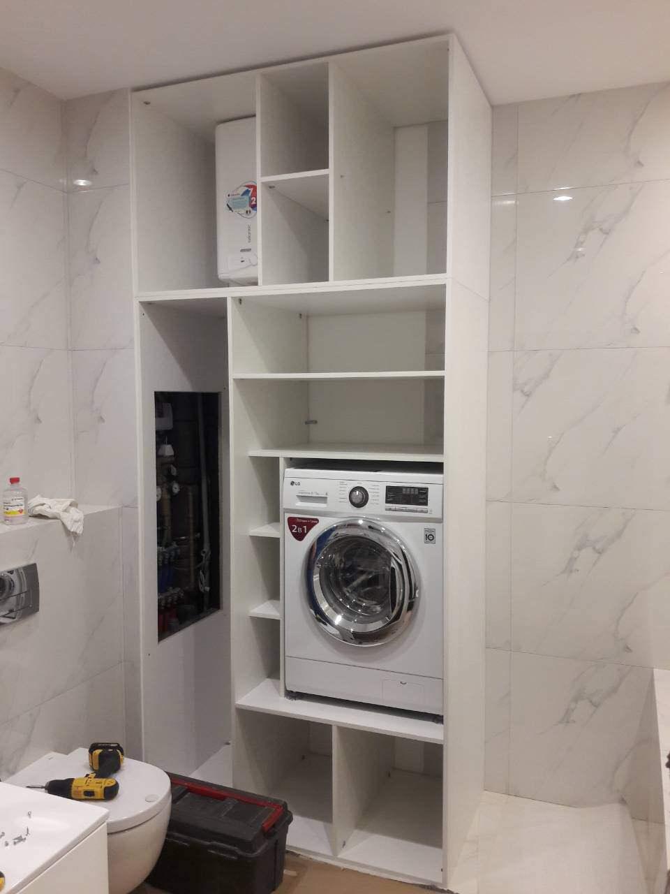 Шкаф в ванную МДФ белый