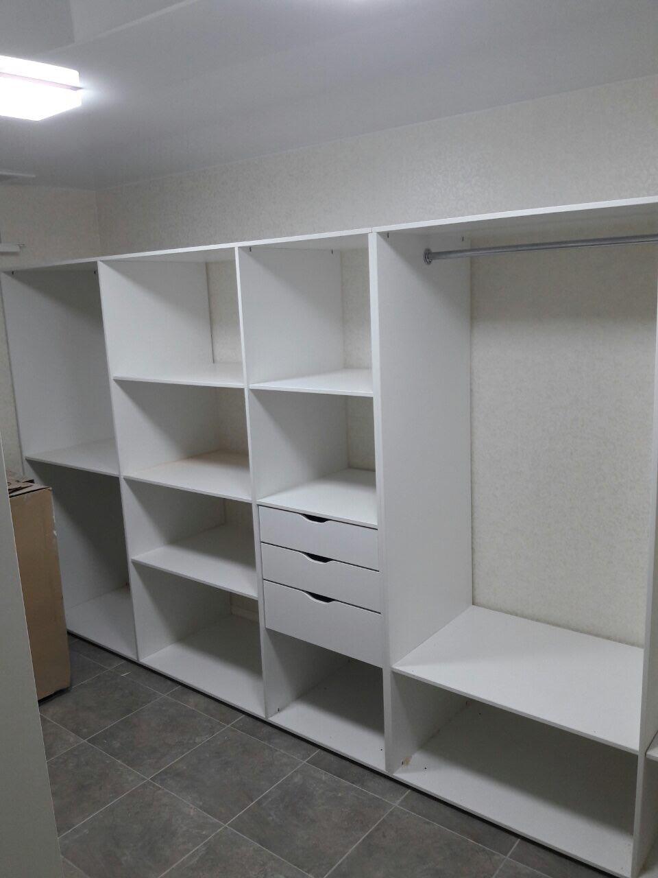 "Гардеробная комната (6) ЛДСП ""Белый базовый"""